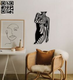 Woman body wall decor E0014352 file cdr and dxf free vector download for laser cut plasma