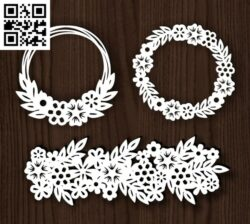 Wreath E0014230 file cdr and dxf free vector download for laser cut plasma