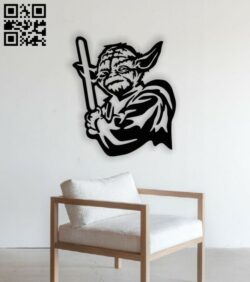 Yoda with a light E0014181 file cdr and dxf free vector download for laser cut plasma
