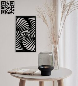 Zebra eye wall decor E0014455 file cdr and dxf free vector download for laser cut plasma