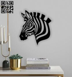 Zebra head E0014232 file cdr and dxf free vector download for laser cut plasma