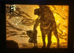 Zodiac light box E0014086 file cdr and dxf free vector download for laser cut