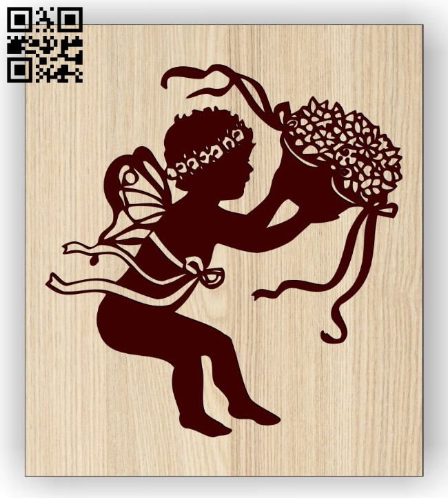 Angel E0014471 file cdr and dxf free vector download for laser engraving machine