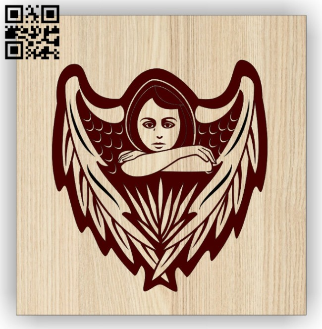 Angel E0014533 file cdr and dxf free vector download for laser engraving machine