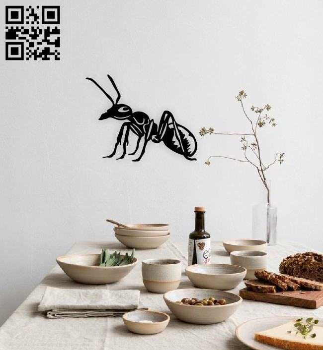 Ant wall decor E0014851 file cdr and dxf free vector download for laser cut plasma