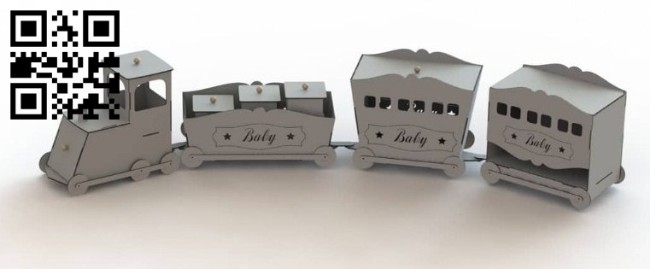 Baby train E0014733 file cdr and dxf free vector download for laser cut