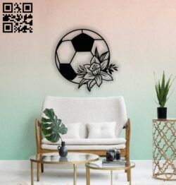 Ball with flower wall decor E0014514 file cdr and dxf free vector download for laser cut plasma
