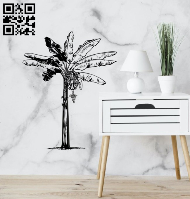 Banana tree E0014846 file cdr and dxf free vector download for laser engraving machine