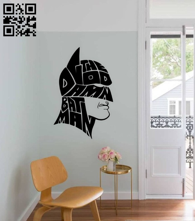 Batman wall decor E0014807 file cdr and dxf free vector download for laser cut plasma