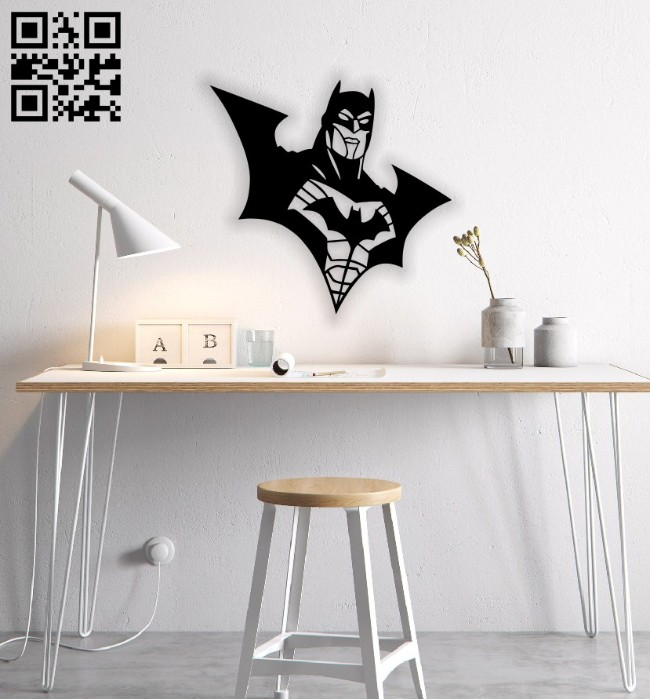 Batman wall decor E0014808 file cdr and dxf free vector download for laser cut plasma