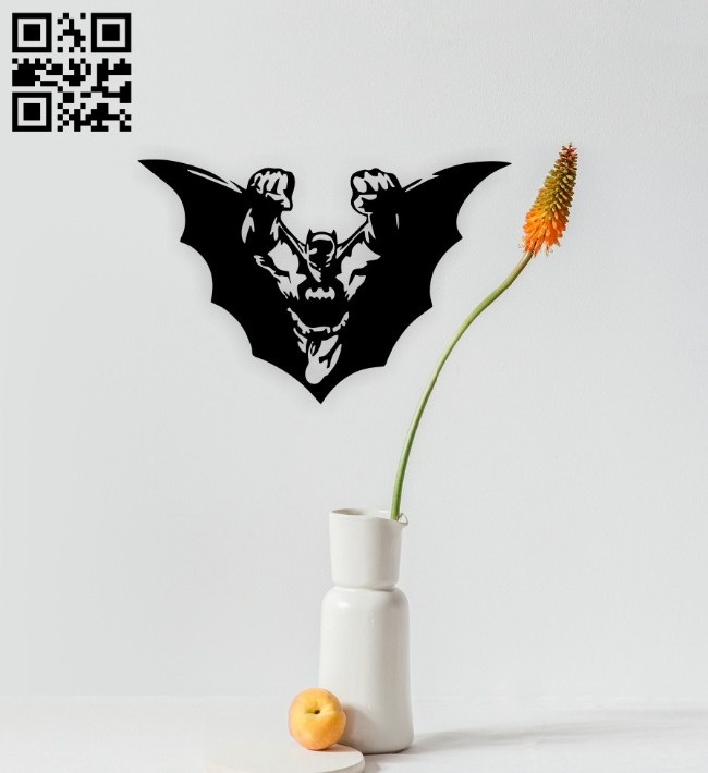 Batman wall decor E0014859 file cdr and dxf free vector download for laser cut plasma