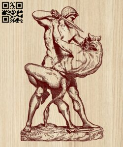 Battle with the Centaur E0014529 file cdr and dxf free vector download for laser engraving machine