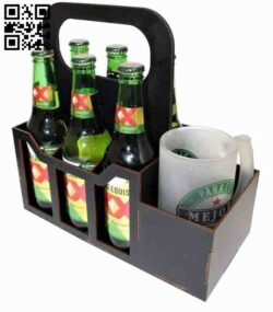 Beer holder E0014646 file cdr and dxf free vector download for laser cut