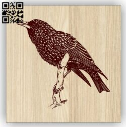 Bird on a branch E0014697 file cdr and dxf free vector download for laser engraving machine