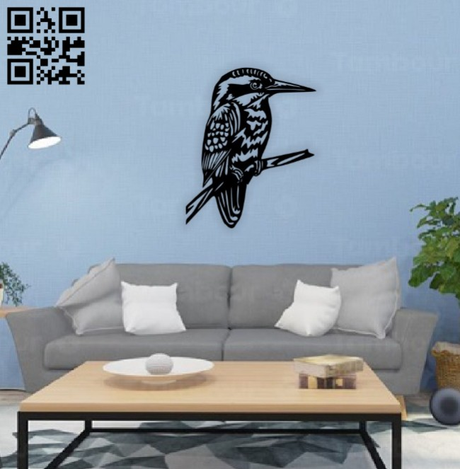 Bird wall decor E0014668 file cdr and dxf free vector download for laser cut plasma