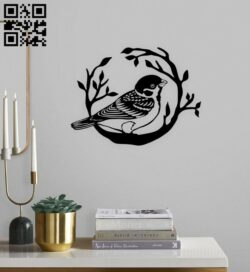 Bird wall decor E0014764 file cdr and dxf free vector download for laser cut plasma
