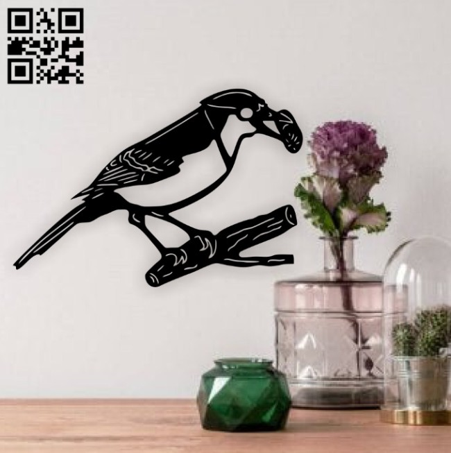 Bird wall decor E0014814 file cdr and dxf free vector download for laser cut plasma