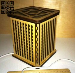 Box E0014520 file cdr and dxf free vector download for laser cut