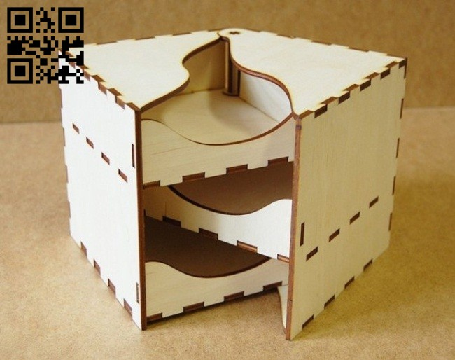 Box E0014706 file cdr and dxf free vector download for laser cut