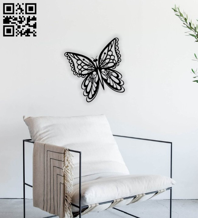 Butterfly wall decor E0014607 file cdr and dxf free vector download for laser cut plasma