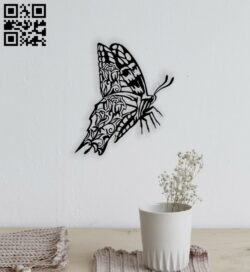 Butterfly with rose E0014482 file cdr and dxf free vector download for laser cut plasma