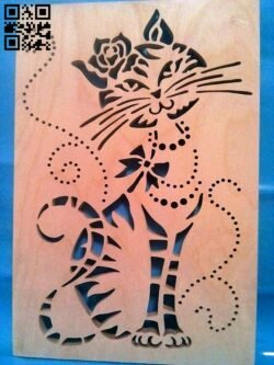 Cat E0014619 file cdr and dxf free vector download for laser cut