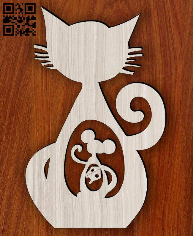 Cat mouse cheese E0014564 file cdr and dxf free vector download for laser cut