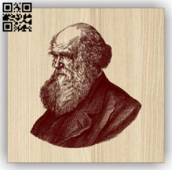 Charles Robert Darwin E0014779 file cdr and dxf free vector download for laser engraving machine