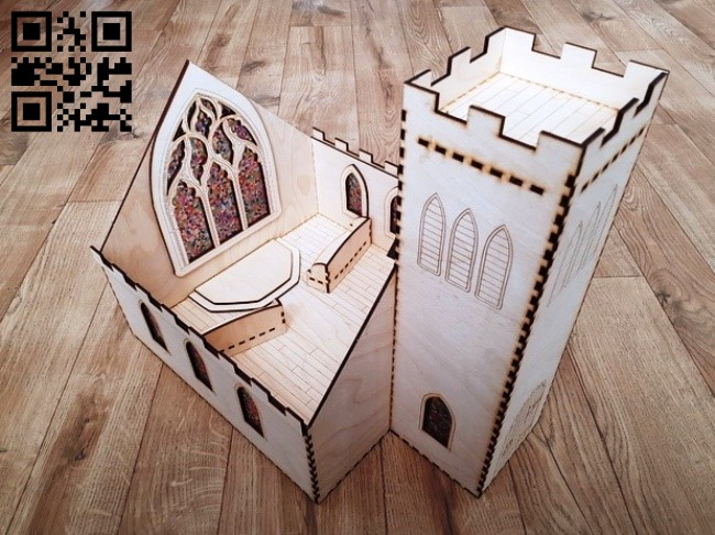 Church E0014500 file cdr and dxf free vector download for laser cut
