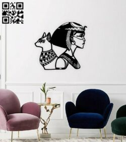 Cleopatra wall decor E0014813 file cdr and dxf free vector download for laser cut plasma