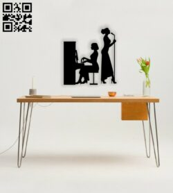 Concert piano wall decor E0014604 file cdr and dxf free vector download for laser cut plasma