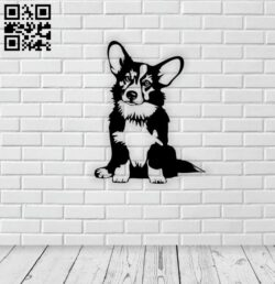 Corgi dog E0014683 file cdr and dxf free vector download for laser cut plasma