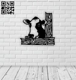 Cow E0014804 file cdr and dxf free vector download for laser cut plasma
