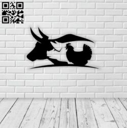 Cow pig chicken E0014579 file cdr and dxf free vector download for laser cut plasma
