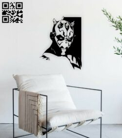 Darth Maul E0014831 file cdr and dxf free vector download for laser cut plasma