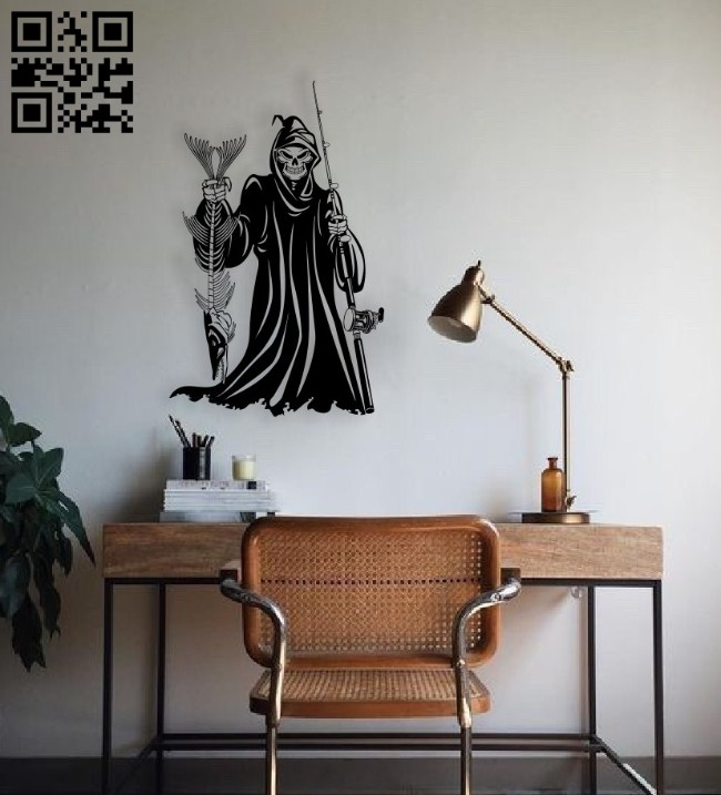 Death wall decor E0014610 file cdr and dxf free vector download for laser cut plasma