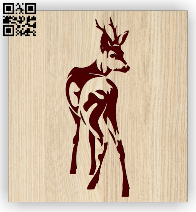 Deer E0014470 file cdr and dxf free vector download for laser engraving machine
