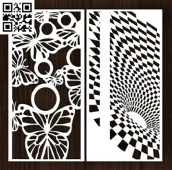 Design pattern screen panel E0014478 file cdr and dxf free vector download for laser cut cnc