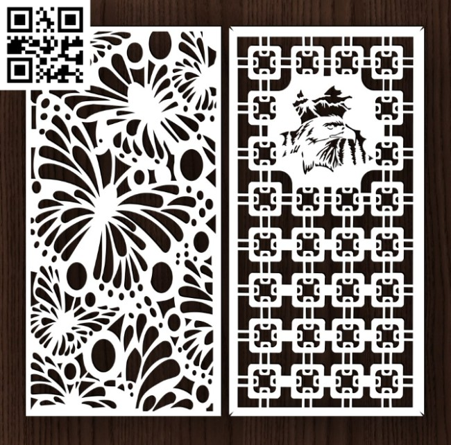 Design pattern screen panel E0014479 file cdr and dxf free vector download for laser cut cnc