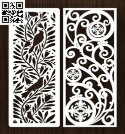 Design pattern screen panel E0014480 file cdr and dxf free vector download for laser cut cnc
