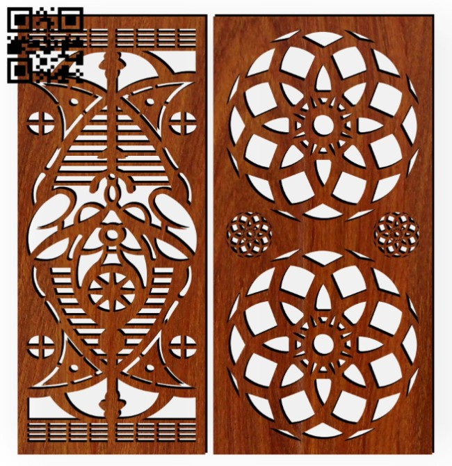 Design pattern screen panel E0014481 file cdr and dxf free vector download for laser cut cnc