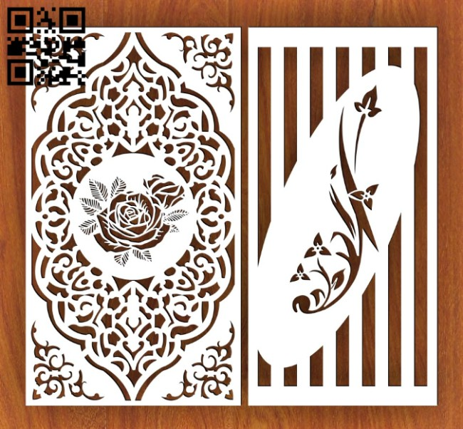 Design pattern screen panel E0014591 file cdr and dxf free vector download for laser cut cnc