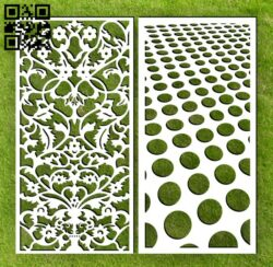 Design pattern screen panel E0014592 file cdr and dxf free vector download for laser cut cnc