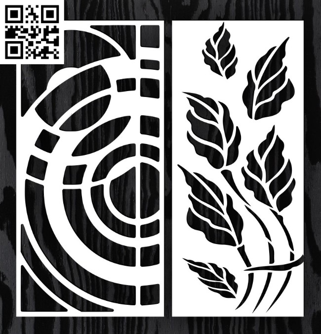 Design pattern screen panel E0014593 file cdr and dxf free vector download for laser cut cnc