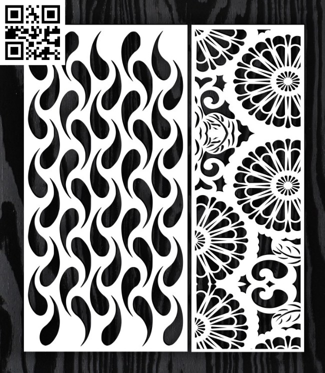 Design pattern screen panel E0014594 file cdr and dxf free vector download for laser cut cnc