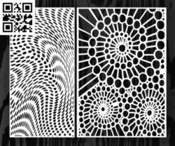 Design pattern screen panel E0014595 file cdr and dxf free vector download for laser cut cnc