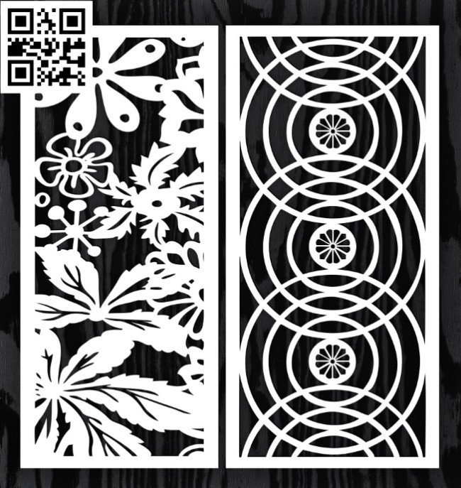 Design pattern screen panel E0014824 file cdr and dxf free vector download for laser cut CNC