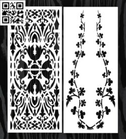 Design pattern screen panel E0014825 file cdr and dxf free vector download for laser cut CNC