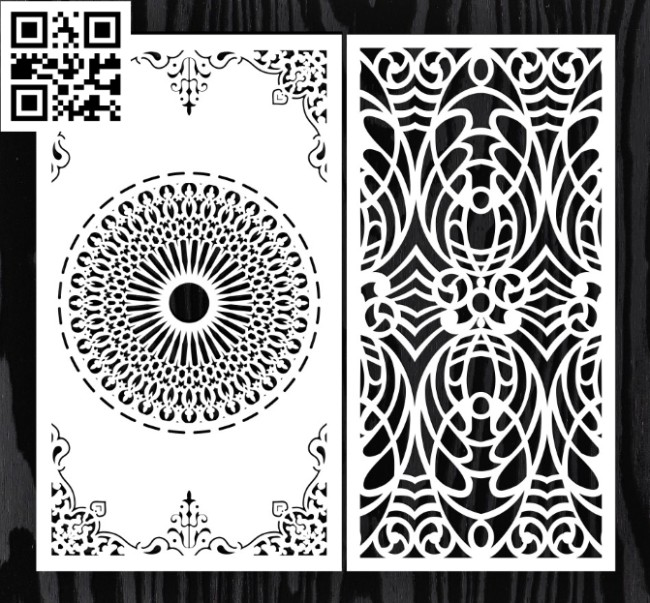 Design pattern screen panel E0014826 file cdr and dxf free vector download for laser cut CNC