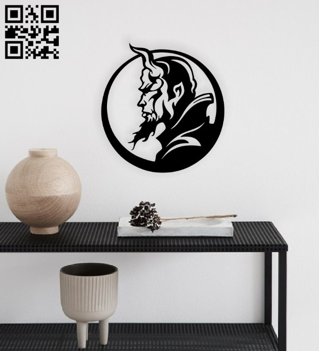 Devil horns wall decor E0014781 file cdr and dxf free vector download for laser cut plasma